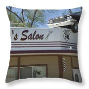 Route 66 Desotos Salon Throw Pillow