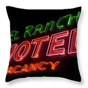 Route 66 El Rancho Throw Pillow