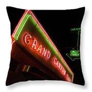Route 66 Grand Canyon Neon Throw Pillow