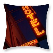 Route 66 Hotel Williams Throw Pillow