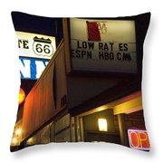 Route 66 Inn Throw Pillow