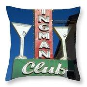 Route 66 Kingman Club Throw Pillow
