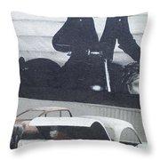 Route 66 Marlon Brando Mural Throw Pillow