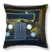 Route 66 Motel Mural Throw Pillow