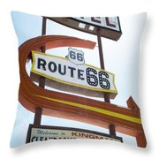 Route 66 Motel Sign 1 Throw Pillow