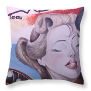 Route 66 Mural 10 Throw Pillow