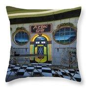 Route 66 Mural Seligman Throw Pillow