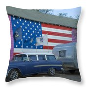 Route 66 Nomad Throw Pillow