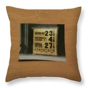 Route 66 Odell Il Gas Station Gas Prices Signage Throw Pillow