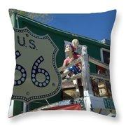 Route 66 Seligman Arizona Throw Pillow