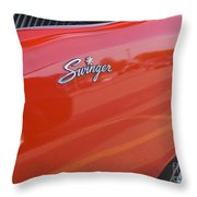 Route 66 Swinger Throw Pillow
