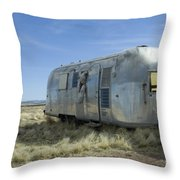 Route 66 Trailer Throw Pillow