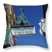 Route 66 Turquoise Tepee Throw Pillow