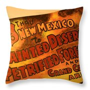 Route 66 Vintage Sign 5 Throw Pillow