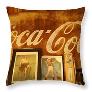 Route 66 Vintage Signage Throw Pillow