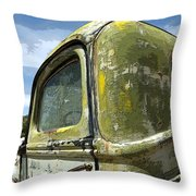Route 66 Vintage Truck Throw Pillow