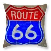 Route 66 Wall Art-2 Throw Pillow