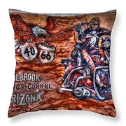 Route 66 Wall Art-3 Throw Pillow