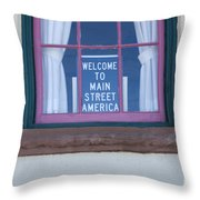 Route 66 Welcome Sign Throw Pillow