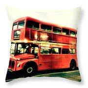 Routemaster Retro Pop Art  Throw Pillow