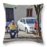 Rovinj Man Throw Pillow