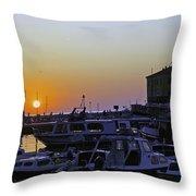 Rovinj Sunset Throw Pillow
