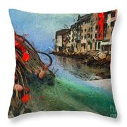 Rovinj The Ancient Adriatic City Throw Pillow