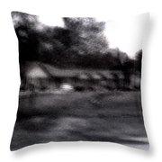 Row Houses- Monroe Louisiana Throw Pillow