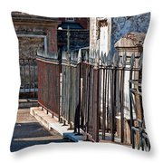 Row Of Tombs St Louis One Cemetery New Orleans Throw Pillow