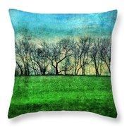 Row Of Trees Throw Pillow