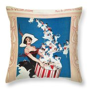 Row Row Row: Song Sheet Throw Pillow