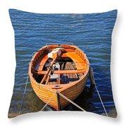Rowboat Throw Pillow by Joana Kruse