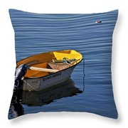Rowing Boat Throw Pillow
