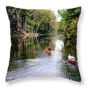 Rowing Down The River Throw Pillow