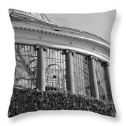Royal Conservatory In Brussels - Black And White Throw Pillow