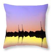 Royal Docks Cranes  Art Throw Pillow