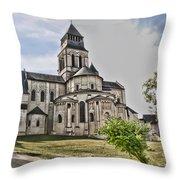 Royal Fontevraud Abbey Throw Pillow