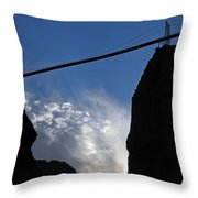 Royal Gorge Bridge And Sky Throw Pillow