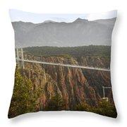 Royal Gorge Bridge Colorado - The World's Highest Suspension Bridge Throw Pillow by Christine Till