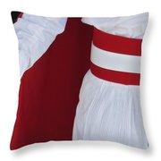 Royal Guard At Mohammed V Mausoleum Throw Pillow by Axiom Photographic