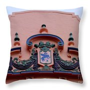 Royal Hawaiian Hotel Entry Facade Throw Pillow