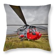 Royal Navy Sar Sea King Xz920 Glencoe Throw Pillow