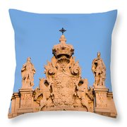 Royal Palace In Madrid Architectural Details Throw Pillow
