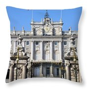 Royal Palace In Madrid Throw Pillow
