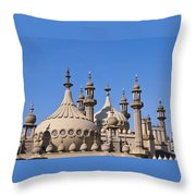 Royal Pavillion - Brighton England Throw Pillow