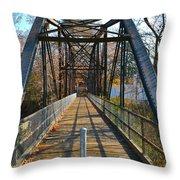 Rube Nelson Bridge 1 Throw Pillow