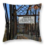 Rube Nelson Bridge 2 Throw Pillow