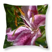 Rubrum Lily Throw Pillow