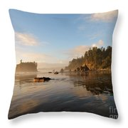 Ruby Beach At Low Tide Throw Pillow