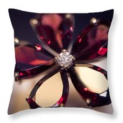 Ruby Ring I. Spirit Of Treasure Throw Pillow by Jenny Rainbow
